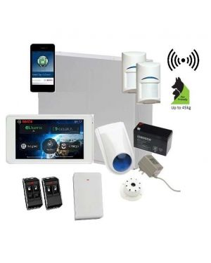"Bosch Solution 3000 Alarm System with 2 x Wireless Tritech Detectors + 5"" Touch Screen Code pad+IP Module"