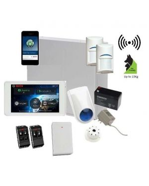 "Bosch Solution 3000 Alarm System with 2 x Wireless Detectors + 5"" Touch Screen Code pad+IP Module"
