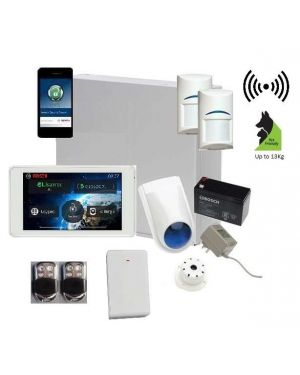 "Bosch Solution 3000 Alarm System with 2 x Wireless Detectors + 5"" Touch Screen Code pad+Premium Remote Kit +IP Module"