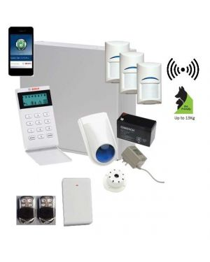 Bosch Solution 3000 Alarm System with 3 x Wireless detectors+ Icon Code pad + Premium Remote Kit+IP Module