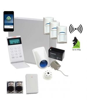 Bosch Solution 3000 Alarm System with 3 x Wireless Tritech detectors+ Icon Code pad + Premium Remote Kit+IP Module