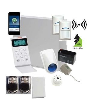 Bosch Solution 3000 Alarm System with 2 x Wireless Tritech detectors+ Icon Code pad + Premium Remote Kit+IP Module
