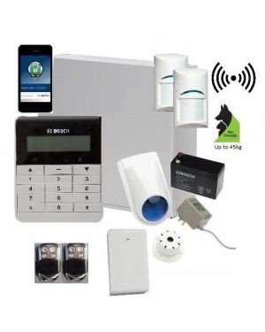 Bosch Solution 3000 Alarm System with 2 x Wireless Tritech Detectors + Text Code pad+Premium Remote Kit+ IP Module
