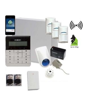 Bosch Solution 3000 Alarm System with 3 x Wireless Tritech Detectors + Text Code pad+Premium Remote Kit+ IP Module