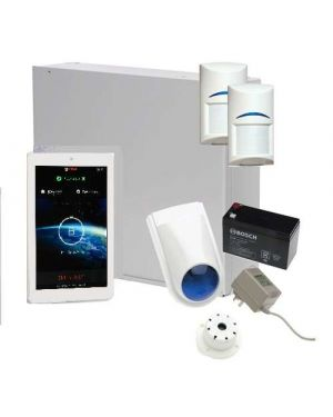 "Bosch Solution 2000 Alarm System with 2 x Gen 2 PIR Detectors+ 7"" Touch Screen Code pad"