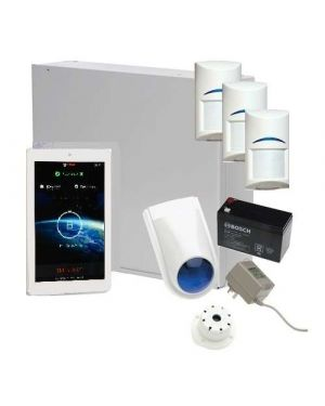 "Bosch Solution 3000 Alarm System with 3 x Gen 2 Quad Detectors+ 7"" Touch Screen Code pad"