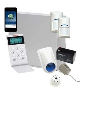 Bosch Solution 2000 Alarm System with 2 x Gen 2 PIR Detectors+Icon Code pad+IP Module
