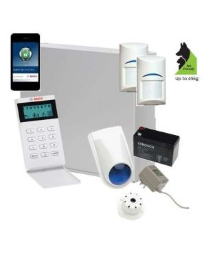 Bosch Solution 2000 Alarm System with 2 x Gen 2 Tritech Detectors+Icon Code pad + IP Module