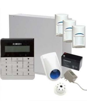 Bosch Solution 2000 Alarm System with 3 x Gen 2 PIR Detectors+  Text Code pad