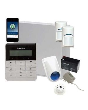 Bosch Solution 2000 Alarm System with 2 x Gen 2 Quad Detectors+ Text Code pad+ IP Module