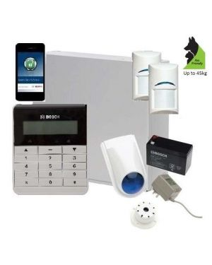 Bosch Solution 2000 Alarm System with 2 x Gen 2 Tritech Detectors+ Text Code pad+ IP Module
