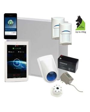 "Bosch Solution 2000 Alarm System with 2 x Gen 2 Tritech Detectors+ 7"" Touch Screen Code pad+ IP Module"