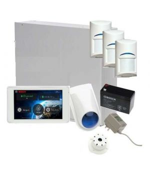 "Bosch Solution 3000 Alarm System with 3 x Gen 2 Quad Detectors+ 5"" Touch Screen Code pad"