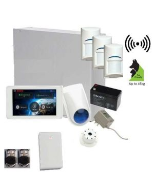 "Bosch Solution 3000 Alarm System with 3 x Wireless Tritech Detectors + 5"" Touch Screen Code pad+Premium Remote Kit"