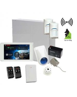 "Bosch Solution 3000 Alarm System with 2 x Wireless Tritech Detectors + 5"" Touch Screen Code pad"