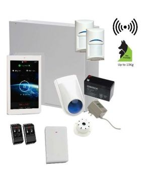 "Bosch Solution 3000 Alarm System with 2 x Wireless Detectors + 7"" Touch Screen Code pad"
