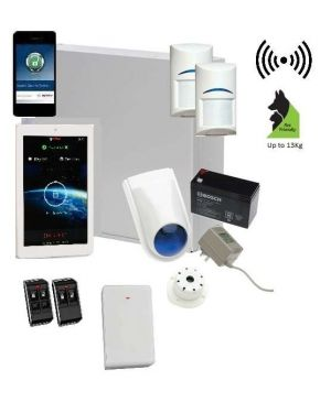 "Bosch Solution 3000 Alarm System with 2 x Wireless Detectors + 7"" Touch Screen Code pad+IP Module"
