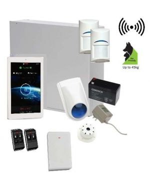 "Bosch Solution 3000 Alarm System with 2 x Wireless Tritech Detectors + 7"" Touch Screen Code pad"