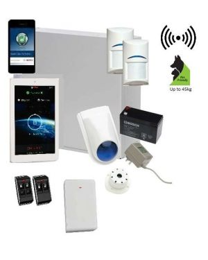 "Bosch Solution 3000 Alarm System with 2 x Wireless Tritech Detectors + 7"" Touch Screen Code pad+IP Module"