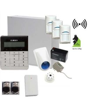 """Bosch Solution 3000 Alarm System with 2 x Wireless Detectors + 5"""" Touch Screen Code pad"""