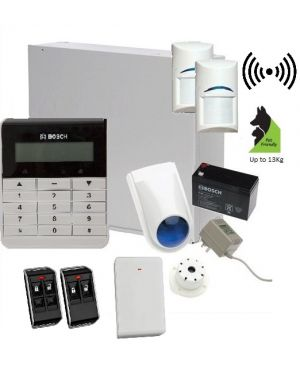 Bosch Solution 3000 Alarm System with 2 x Wireless detectors +Text Code pad, Plastic remotes