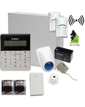 Bosch Solution 3000 Alarm System with 2 x Wireless Tritech Detectors + Text Code pad+Premium Remote Kit