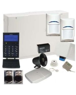 Bosch Solution 6000 Alarm System with 2x Wireless Tritech Detectors + Prox codepad, and Stainless Steel Keyfobs