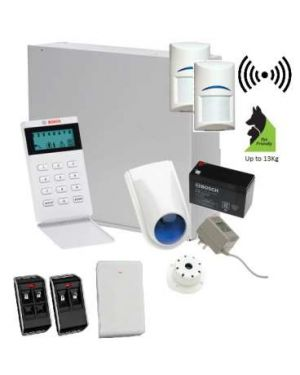 Bosch Solution 3000 Alarm System with 2 x Wireless detectors+ Icon Code pad + Deluxe Remote Kit