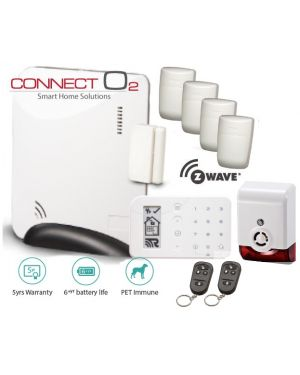 Connect O2 Wireless alarm system delux package, Ethernet Connectivity