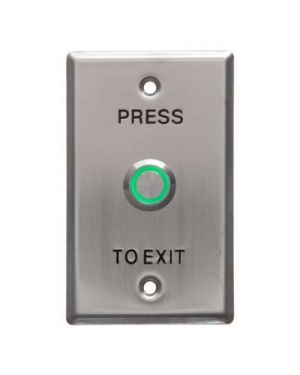 Smart Press to Exit Green LED Illuminated Flush Button on Flat Stainless steel, WEL1911G