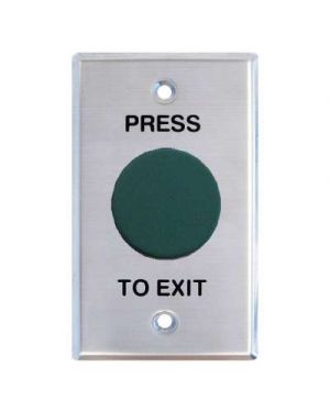 Press to Exit, Heavy Duty Mushroom, Green, IP66, Vandalproof