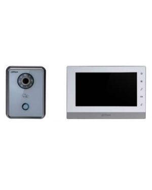 "Dahua IP Intercom Kit 7"" Colour Monitor Square With White Door Station"