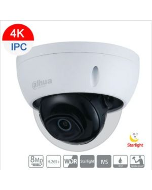 Dahua 8MP(4K) IP Starlight Dome Fixed 2.8mm lens, IPC-HDBW2831EP-S-0280B-S2