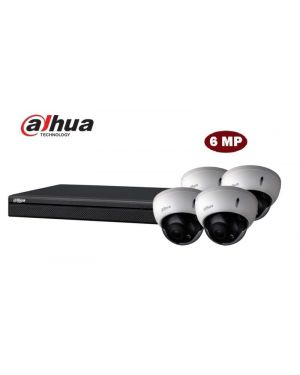 Dahua CCTV IP Kit, 4 Channel with Bullet, 4 Cameras, 4 TB Hard Drive, Dual Bay