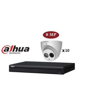 Dahua CCTV IP Kit, 16 Channel with Eyeballs, 10 Cameras, 4 TB Hard Drive