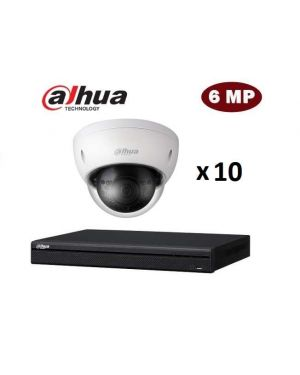Dahua CCTV IP Kit, 16 Channel with 8MP Bullet, 10 Cameras, 4 TB Hard Drive