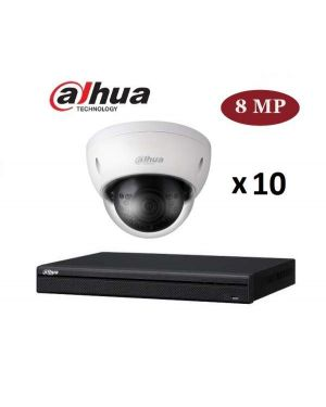 Dahua CCTV IP Kit, 16 Channel with 6MP Dome, 10 Cameras, 4 TB Hard Drive