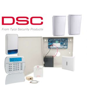 DSC Neo Wireless Home Alarm System, 2 Detector Kit, Wired Keypad