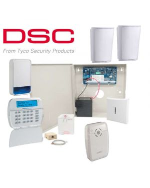 DSC Neo Wireless Home Alarm System, 2 Detector Kit, Wired Keypad, Wireless Siren