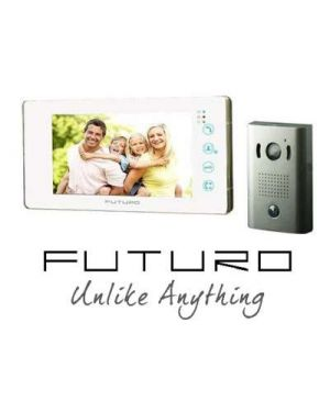 Futuro Video Intercom, White Monitor Surface Mounted Door Station, No Memory FUTURO-201-KITW