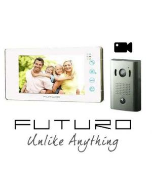Futuro Video Intercom, White Monitor Surface Mount Door Station, Pic Memory, FUTURO-212-KITW