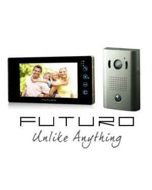 Futuro Video Intercom, Black Monitor Surface Mounted Door Station, No Memory, FUTURO-202-KITB