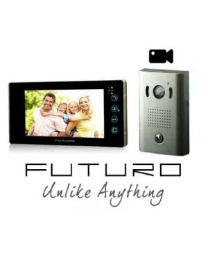 Futuro Video Intercom, Black Monitor Surface Mount Door Station, Pic Memory, FUTURO-212-KITB