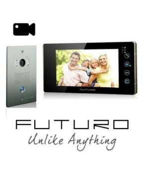 Futuro Video Intercom, Black Monitor Flush Mount Door Station, Pic Memory, FUTURO-112-KITB