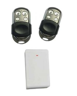 Bosch 3000 Premium Remote Control Kit, Wireless Receiver Radion+ 2 Remotes With 4 Buttons Stainless steel