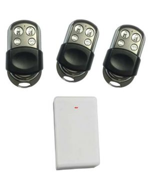 Bosch Premium Keyfob Kit, Wireless Receiver and 3 Remotes with 4 Buttons HCT-4UL