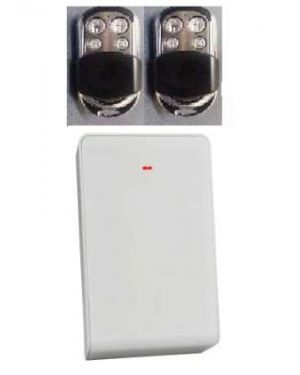 Bosch Premium Keyfob Kit, Wireless Receiver Radion+ 2 Remotes With 4 Buttons Stainless steel) Suits 3000 Only