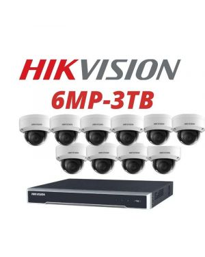 Hikvision CCTV IP Kit, 16 Channel with 6MP Dome, 8 Cameras, 3 TB Hard Drive