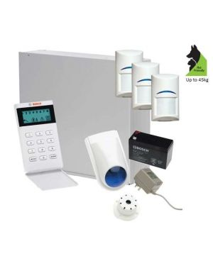 Bosch Solution 2000 Alarm System with 3 x Gen 2 Tritech Detectors+Icon Codepad