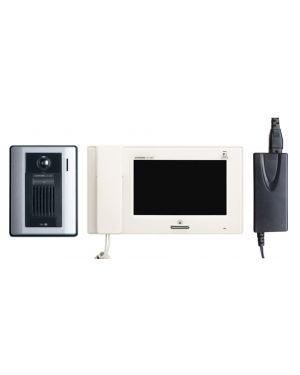 "Aiphone Colour Intercom 7"" Screen Kit JP Series with Surface mounted Plastic Door Station"